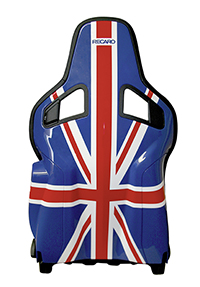 RECARO Sporster Union Jack achterkant