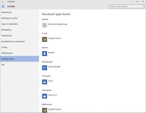 Standaard-apps
