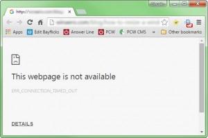 Webpagina werkt niet